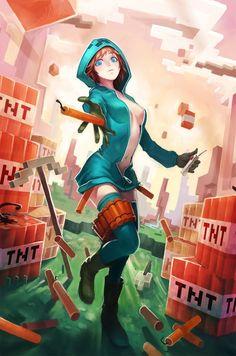 minecraft anime spider girl - Google Search