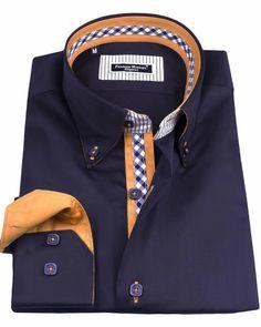 Men's French shirts - Eiffel Navy Blue | UrUNIQUE.com
