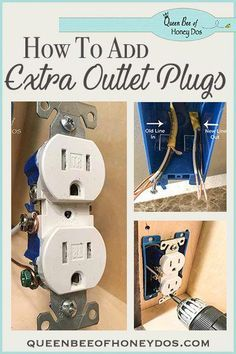 Add Electrical Outlet, Home Electrical Wiring, Electrical Outlets, Installing Electrical Outlet, Electrical Projects, Electronics Projects, Home Improvement Loans, Home Improvement Projects, Home Projects