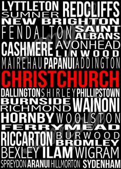 CHRISTCHURCH New Zealand Poster in Printable by BonTempsBeignet.