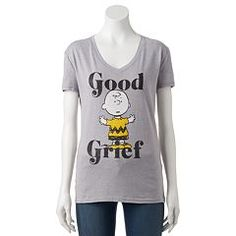 Juniors' Peanuts Charlie Brown T-Shirt