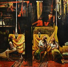 "Saatchi Art Artist Marco Ortolan; Painting, ""Three gypsy ( SOLD )"" #art"
