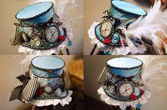 Steampunk Alice In Wonderland's Mad Hatter Top Hat Steampunk Hat, Steampunk Wedding, Steampunk Costume, Steampunk Fashion, Steampunk Design, Steampunk Necklace, Steampunk Clothing, Gothic Fashion, Alice In Wonderland Steampunk