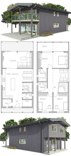 1000 ideas about small home plans on pinterest small - House plans lots of windows ...