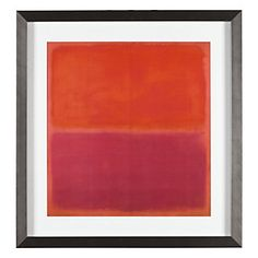 "The colored bands, which Mark Rothko felt must be ""sensuous or functional,"" took on a wide range of hues, as seen here in No. 3 1967 Orange / Fushia. $139.95"