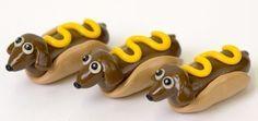 Hot Dog Dachshund Miniature Sculpture