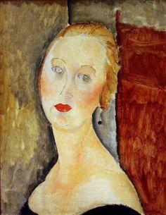 Amedeo Modigliani - Donna bionda (ritratto di Germaine Survage), 1918.