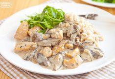 Kurczak w sosie grzybowym. Przepyszny obiad w mniej niż godzinę. PRZEPIS Stuffed Mushrooms, Beef, Chicken, Vegetables, Food, Diet, Stuff Mushrooms, Meat, Veggies