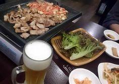 ニンニクとキムチたっぷりのサムギョプサル!この後、韓国焼酎を飲んで酔っ払うのが休前日の楽しみです(^◇^)【アジア料理が好きさん☆9月これが私の晩酌だ!】