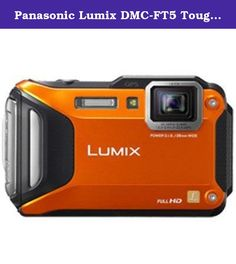 Panasonic Lumix DMC-FT5 Tough Shock & Waterproof Wi-Fi GPS Digital Camera (Orange). The rugged, waterproof and Wi-Fi-enabled LUMIX FT5 compact adventure camera delivers go-anywhere flexibility with state-of-the-art imaging performance. Unwire your creativity with Wi-Fi technology that allows you to share your pictures instantly from your smartphone. The LUMIX FT5 is the ultimate tough camera, so no matter where you find yourself¿ diving with sea life, hanging from a mountain, or exploring...
