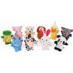 10pcs Plush Animal Finger Puppets