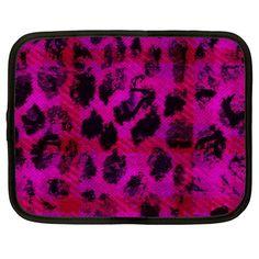 Pink+Leopard+Netbook+Sleeve+(Large)+Netbook+Case+(Large)