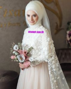There are different rumors about the annals of the marriage dress; Hijabi Wedding, Muslim Wedding Gown, Wedding Hijab Styles, Muslimah Wedding Dress, Wedding Dressses, Muslim Wedding Dresses, Lace Wedding Dress, Wedding Gowns, Bridal Hijab