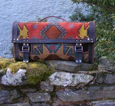 carpet bag tribal bohemian ethnic handmade by travellinglight, $165.00