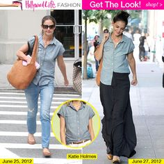 Katie Holmes Style. I knew she's in divorce settlement right now but I love her outfits