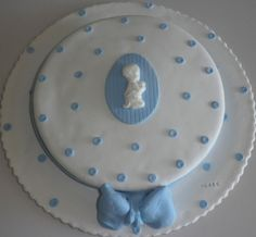 bolo de baptizado rapaz