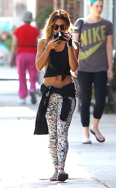 Rock hard! The actress shows off her impressive mid-section as she leaves a Pilates class in Los Angeles.