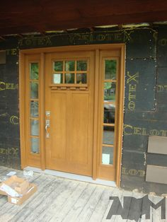 Clopay Craftsman Collection Fiberglass Entry Door Installed
