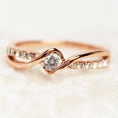 Rose Gold Beading Ring