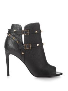 Rockstud grained-leather ankle boots | Valentino | MATCHESFASHION.COM