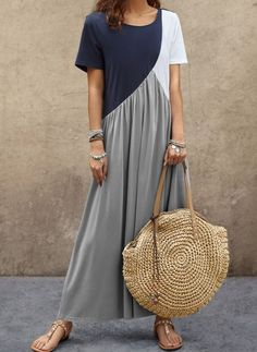 Latest fashion trends in women's Dresses. Shop online for fashionable ladies' Dresses at Floryday - your favourite high street store. Shift Dresses, Women's Fashion Dresses, Casual Dresses, Vestidos Sexy, Vestido Casual, Maxi Robes, Tunic Pattern, Buy Dress, Latest Fashion For Women