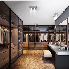 Best Modern Closet Design, For you fashion lovers and the latest clothing collection, the closet is a favorite furniture that is certainly needed at home. Walking Closet, Walk In Closet Design, Closet Designs, Wardrobe Closet, Closet Bedroom, Man Closet, Master Closet, Bedroom Decor, Closet Doors