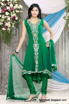Black and Blue Anarkali Frock for Cute Bollywood-Indian-Lollywood Celebrities Fashion Dress Collection 2014
