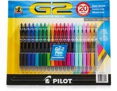 Pilot G2 Premium Gel Roller Pens 20 Count - Pastel + Metallic | Boxed
