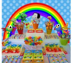 golosinas personalizadas candy bar mesa de golosinas baby tv One Year Birthday, Birthday Parties, Baby Tv Cake, 1st Bday Cake, Toddler Biting, Ideas Para Fiestas, Baby Decor, Little Babies, First Birthdays