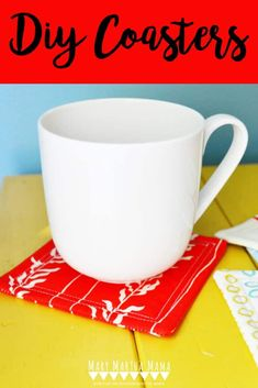 How to Sew Coasters [The Easy Way] – Mary Martha Mama Sewing Machine Projects, Diy Sewing Projects, Sewing Projects For Beginners, Sewing Ideas, Sewing Patterns, Quilt Tutorials, Sewing Tutorials, Mary And Martha, Mug Rug Patterns