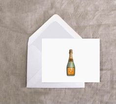 (teeny-tiny) Champagne Enclosure Cards - via Ashley Brooke Designs