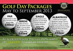 Great new society package offers from Mentmore Golf & Country Club.