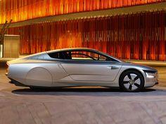 Volkswagen XL1 scores a ridiculous 0.87 L/100 km fuel-economy rating.