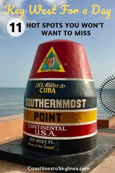 Key West for A Day: 11 Hot Spots You Won't Want to Miss - Coastlines to Skylines Florida Keys, Key West Florida, Florida Vacation, Florida Travel, Florida Beaches, Travel Usa, Cruise Vacation, Road Trip Florida, Vacation Spots