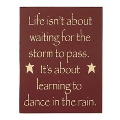 Learn to dance in the rain!!
