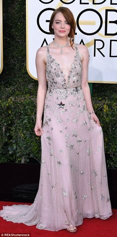 Twinkle twinkle! LaLa Land's Emma Stone wore a star-embellished gown, to collect her Best ...