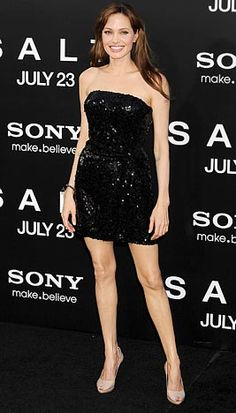 Angelina Jolies Red Carpet Style: The Little (and Short!) Black Dress      Project Female World  Impact