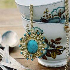 Sunburst Turquoise Necklace...