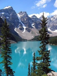 I have been to Moraine Lake, Canada. I've canoed on this lake and it was one of the most beautiful experiences of my life. Banff National Park in Canada is a must see for everyone. Oh The Places You'll Go, Places To Travel, Places To Visit, Travel Destinations, Dream Vacations, Vacation Spots, Lac Louise, Le Colorado, Colorado Springs