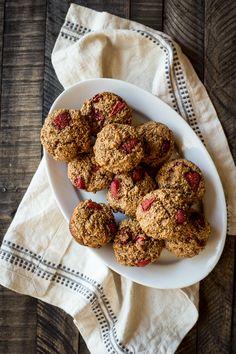 Erdbeere Kleiemuffins
