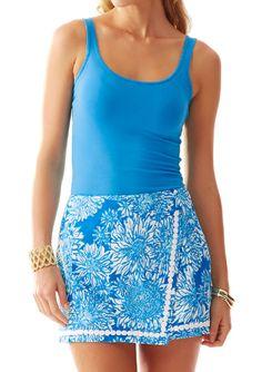 Lilly Pulitzer Dree Envelope Skort in Ariel Blue Lion in the Sun