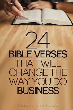 It never ceases to amaze me how relevant the Bible still is even with some of the books being thousands of years old. Solomon said there is nothing new under the sun and he was right. So here are 24 helpful verses that will change how you do business! Christian Life, Christian Quotes, Christian Living, Christian Motivation, Bible Scriptures, Bible Quotes, Bible Quotations, Scripture Memorization, Scripture Study