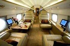 Lifestyles of The Rich and Famous Daily Escape: How about your own private jet where you can travel in comfort?  #Celebrity