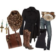 black and brown~love this outfit!!