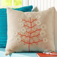 Stylized Botanical Pillow