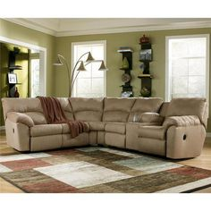 amazon mocha 2 piece reclining sectional nebraska furniture mart