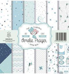 SET DE PAPELES LITTLE BOY AMELIE Amelie, Journaling, Kit, Little Boys, Digital, Paper, Crafts, Scrapbooking, Paper Envelopes