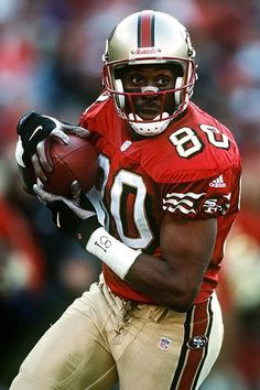 Jerry Rice. The GOAT. The greatest NFL player of all time.