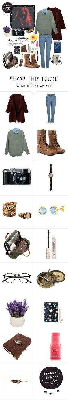 """Star gazer"" by aby-ocampo ❤ liked on Polyvore featuring Topshop, Retrò, Shinola, Belk Silverworks, Authentic Models, Sony, Nikki Strange and Vagabond"