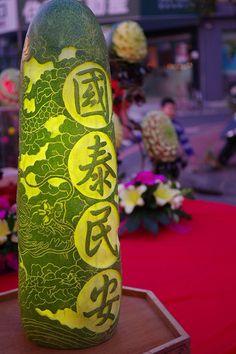 White gourd carving. Tainan #Taiwan 台南 建醮